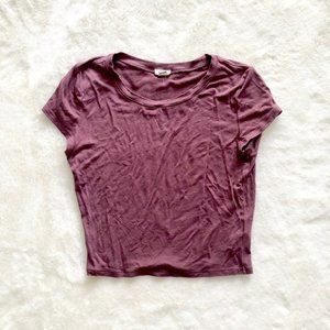 Garage Purple Crop Top T-Shirt